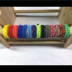 Fishtail Knot Paracord Bracelet Lot of Six